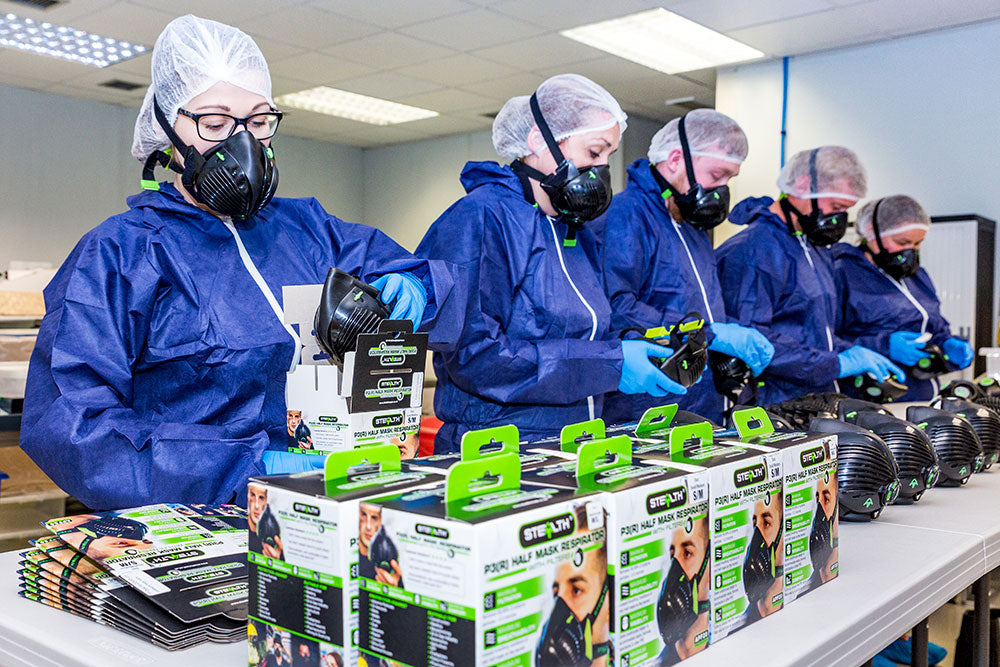 stealth facemask production british made uk