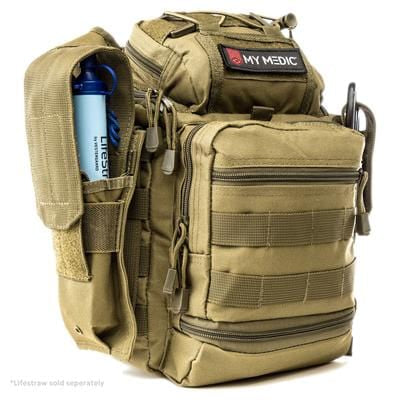 The Recon: Basic trauma kit and tactical sling bag (COYOTE)