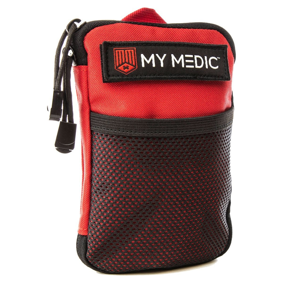Front of The Solo: Advanced mini first aid kit (RED) by MyMedic