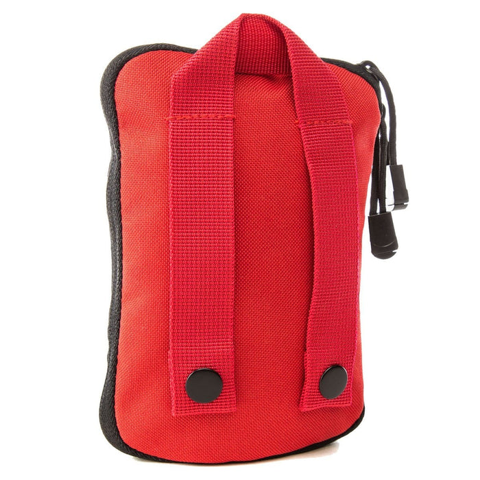 Back of The Solo: Basic mini first aid kit (RED) by MyMedic