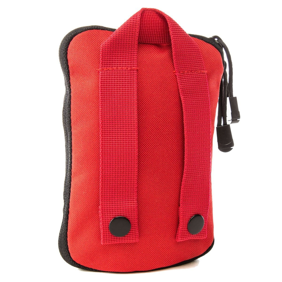 Back of The Solo: Advanced mini first aid kit (RED) by MyMedic