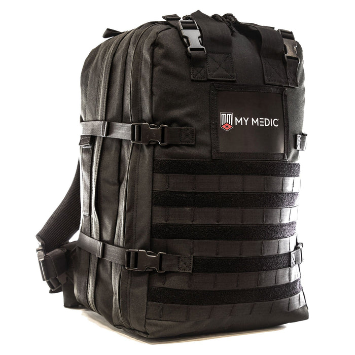 The Medic: Advanced first aid and trauma kit tactical backpack (BLACK)
