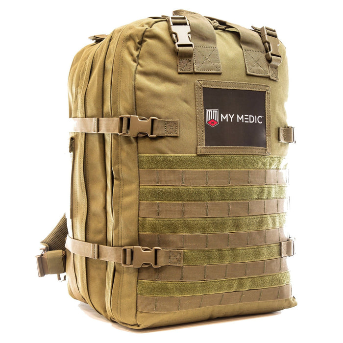 The Medic: Basic first aid and trauma kit tactical backpack (COYOTE)