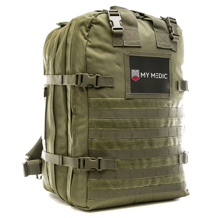The Medic: Basic first aid and trauma kit tactical backpack  (GREEN)