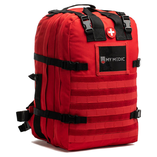 The Medic: Basic first aid and trauma kit tactical backpack (RED)