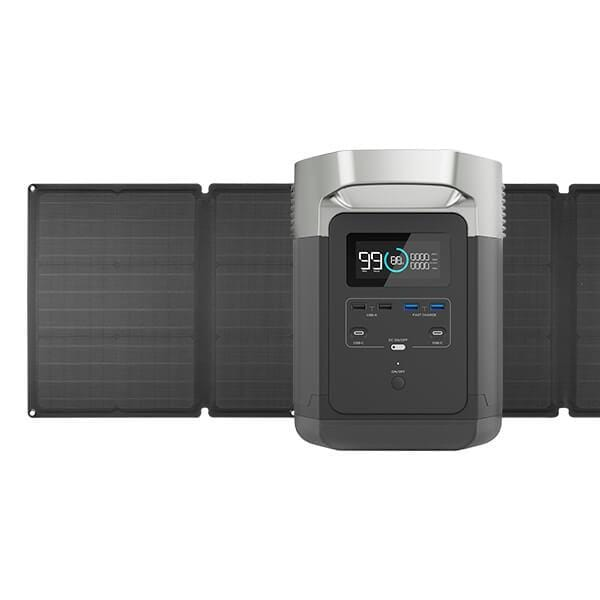 EcoFlow DELTA 1300 Solar Powered Generator & 110W Solar Panel