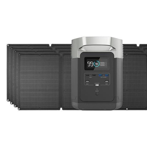 EcoFlow DELTA 1300 Portable Solar Generator and four 110W Portable Solar Panels