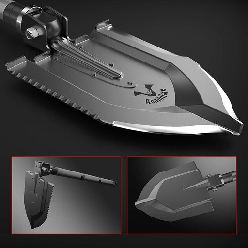 "The Annihilate ""Bad Kid"" tactical shovel folds to make it more useful"