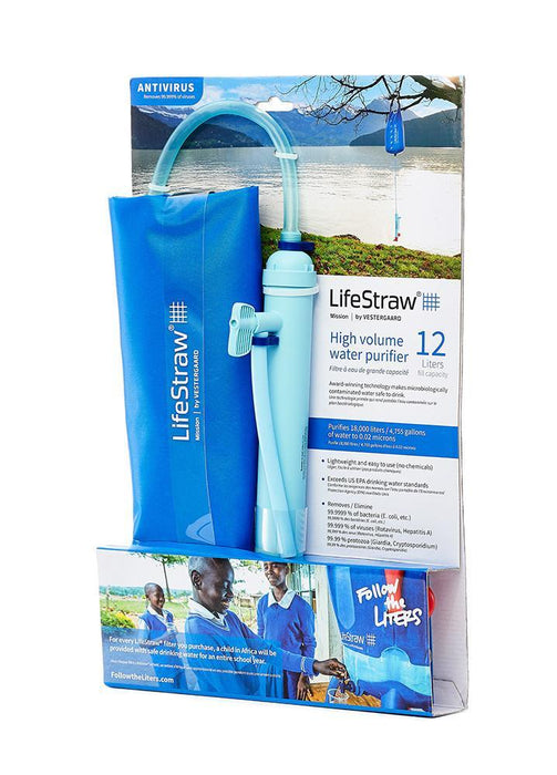 LifeStraw Mission high volume survival water filtration system