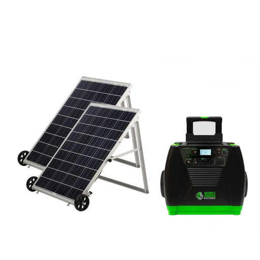 Nature's Generator ELITE GOLD Solar Powered Generator Kit and Power Panel 100 Watt Portable Solar Panels