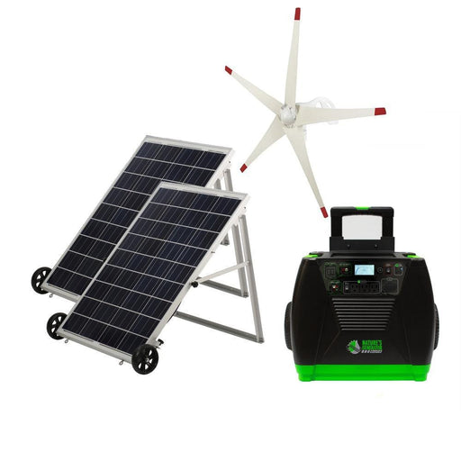 Nature's Generator ELITE GOLD Solar Powered Generator Kit & Wind Turbine