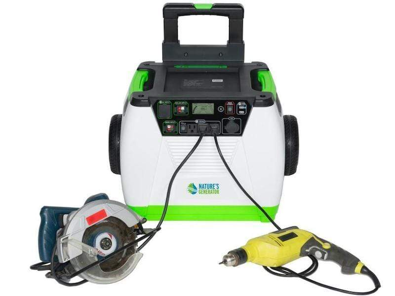 Nature's Generator is a portable solar powered generator that can keep your powers tools charged