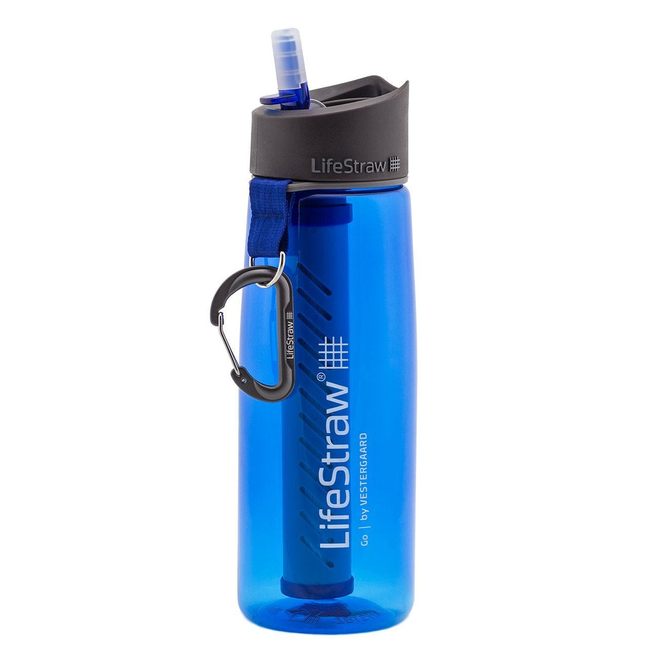 Blue LifeStraw Go 22 oz Water Filter Bottle and Survival Water Filter