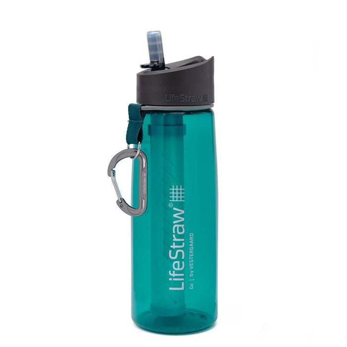 Teal LifeStraw Go 22 oz Water Filter Bottle and Survival Water Filter