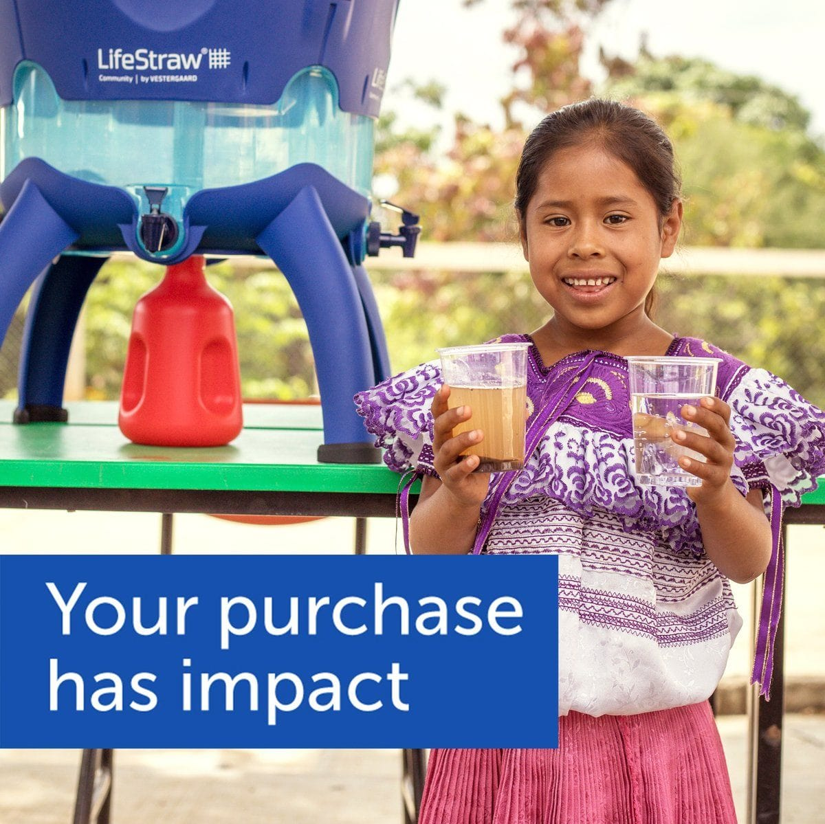 LifeStraw Go 22 oz Water Filter Bottle and Survival Water Filter giving back to the community