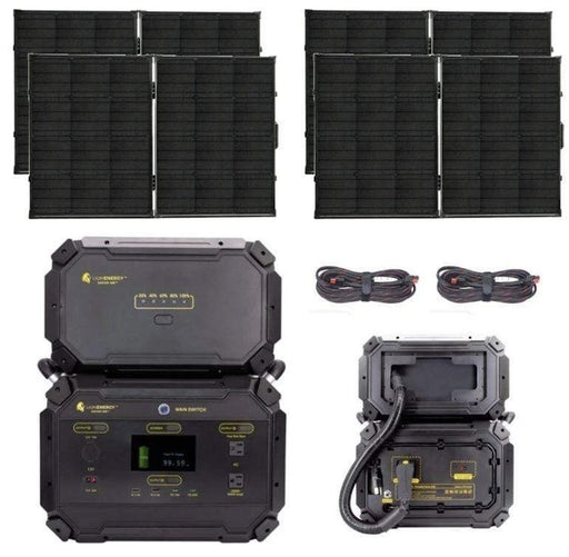 Lion Safari ME GOLD Bundle [Solar Powered Generator & (4) Solar Panels]