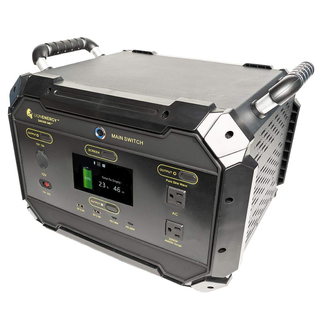 Safari ME 2000W Solar Powered Generator by Lion Energy