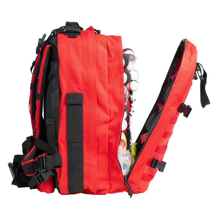 Compartments of The Medic: Advanced first aid and trauma kit tactical backpack