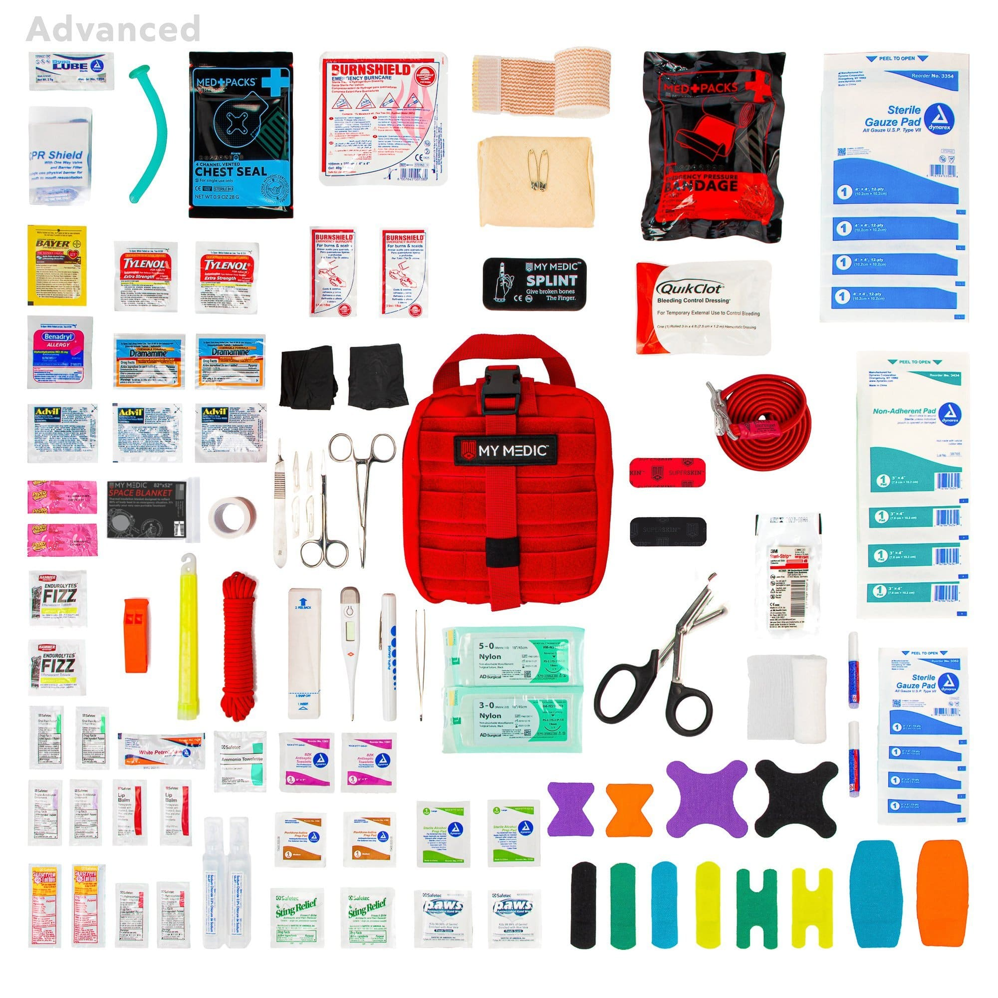 Contents of the MyFAK: Advanced Individual First Aid Kit [IFAK] by MyMedic