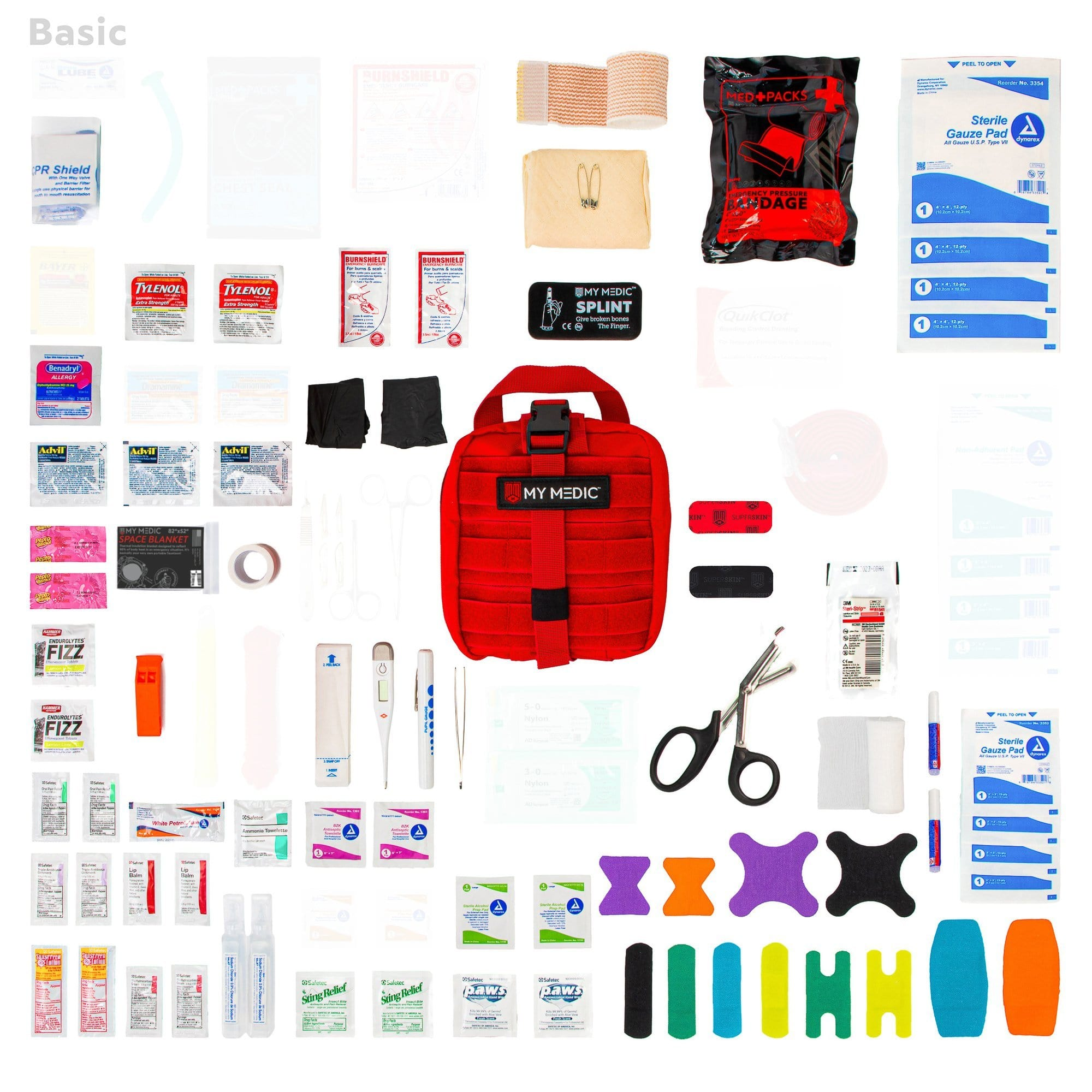 Contents of the MyFAK: Basic Individual First Aid Kit [IFAK] by MyMedic