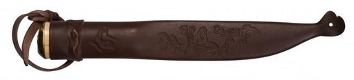 Genuine leather sheath with the Lappland all purpose camp knife and mini machete from Helle @ Tredless.com