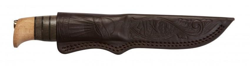 The Sigmund all-purpose handmade knife and custome leather sheath