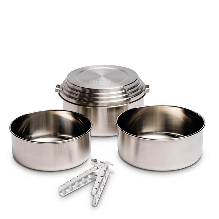 Solo Stove 3-Pot Camp Set of Stainless Steel Camping Cookware