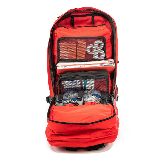 Compartmets of The Medic: Advanced first aid and trauma kit tactical backpack