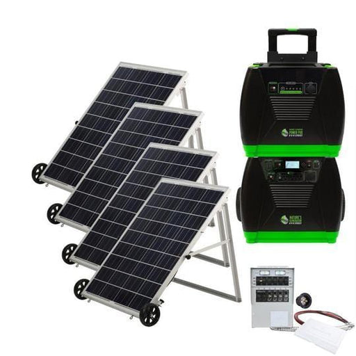 Nature's Generator ELITE PLATINUM Solar Powered Generator Kit & Power Transfer Kit