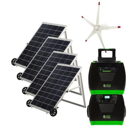 Nature's Generator ELITE PLATINUM Solar Powered Generator Kit & Wind Turbine