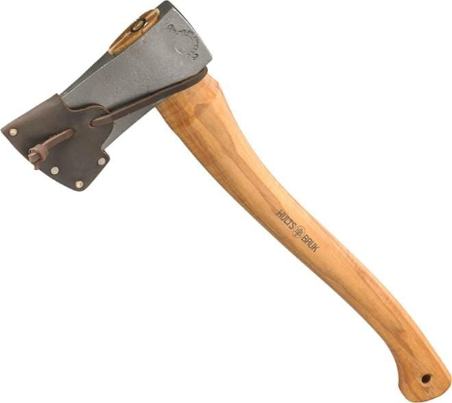 The Gran Wood Splitting Axe and custom leather sheath by Hults Bruk