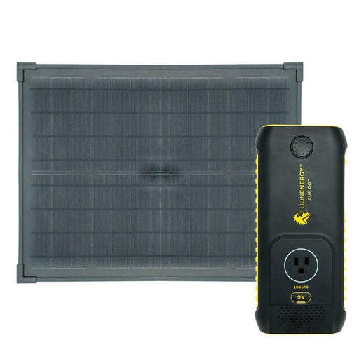 Cub GO Lithium Ion Power Supply and 20 Watt Solar Panel by Lion Energy