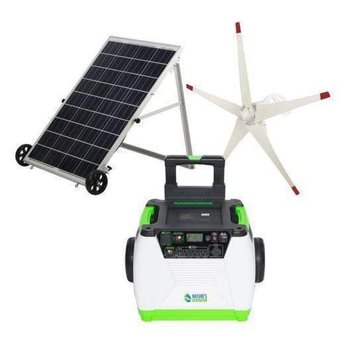 Nature's Generator Gold Bundle [Portable Solar Panel Kit] & Wind Turbine