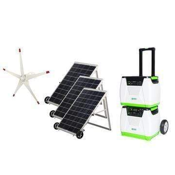 Nature's Generator PLATINUM Bundle [Portable Solar Panel Kit] & Wind Turbine