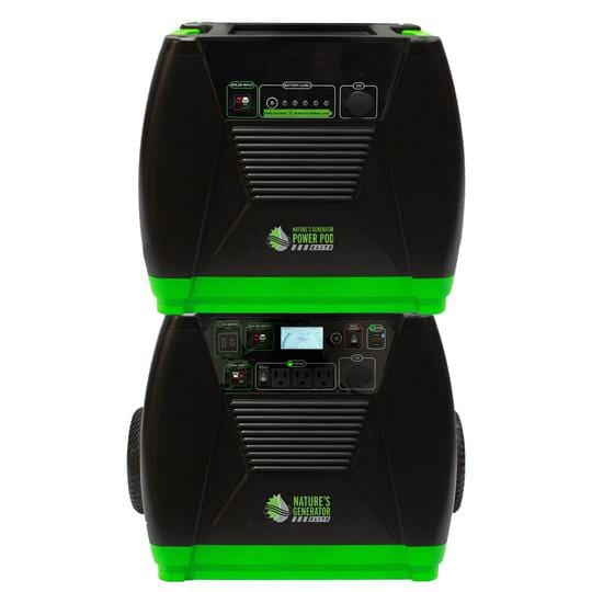 Nature's Generator ELITE Solar Powered Generator & Power Pod ELITE solar battery backup