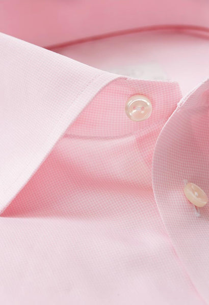 Alan Pink Micro Check Shirt Eton Collar