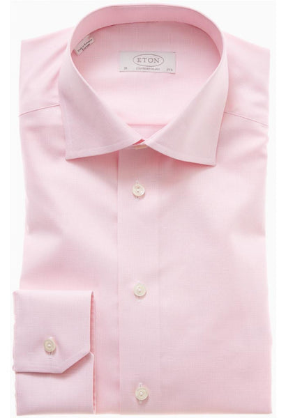 Alan Pink Micro Check Shirt Eton