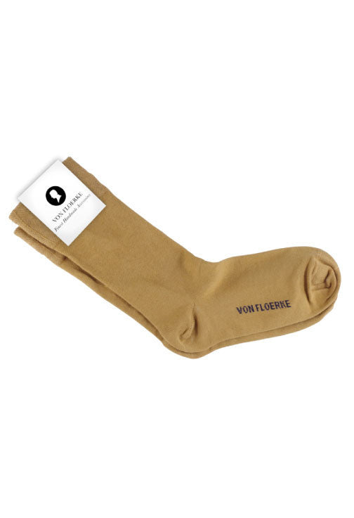 Brown business socks Von Floerke