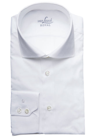 Belzig White Twill Shirt Folded