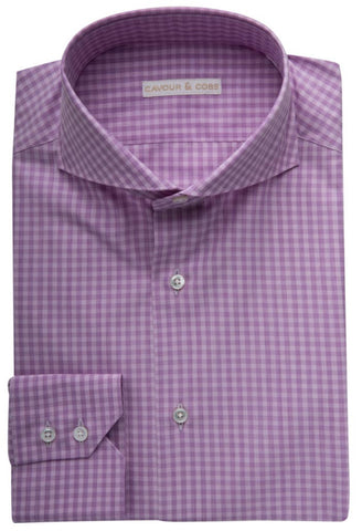 Benevnto Lilac Check Shirt Cavour & Cobs Folded