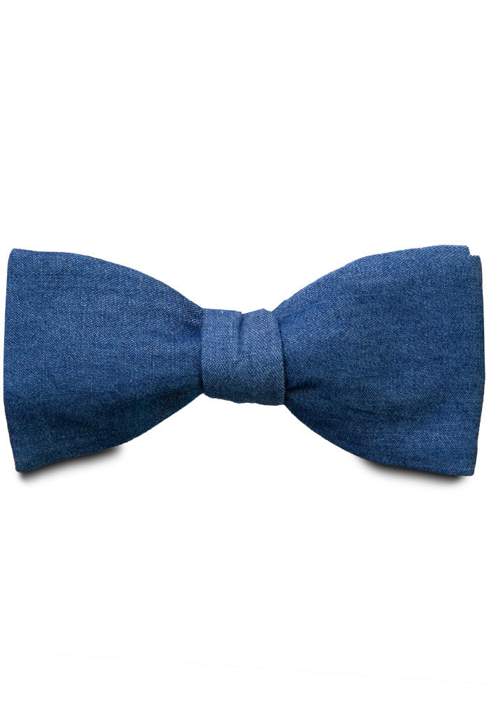 Blue Cotton Bow Tie full