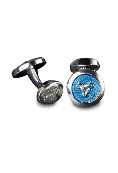Blue Button Cuff Links Van Laack Full