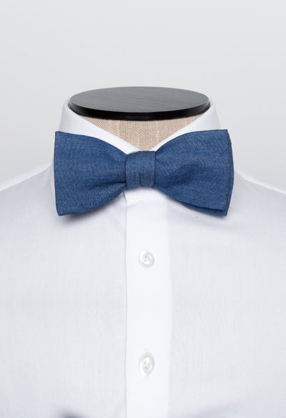 Blue Cotton Bow Tie Mannequin