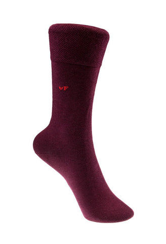 Bordeaux Red Business Socks Von Floerke