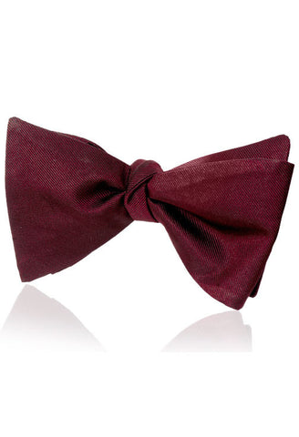 Bordeaux Red Silk Bow Tie Von Floerke