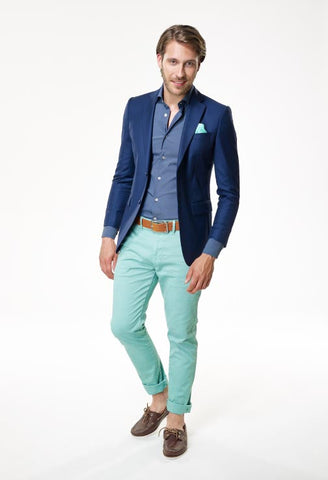 Fiori Blue Denim Stretch Shirt