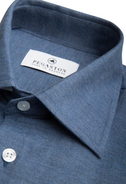Jango Dark Blue Denim Shirt Pegaston Collar