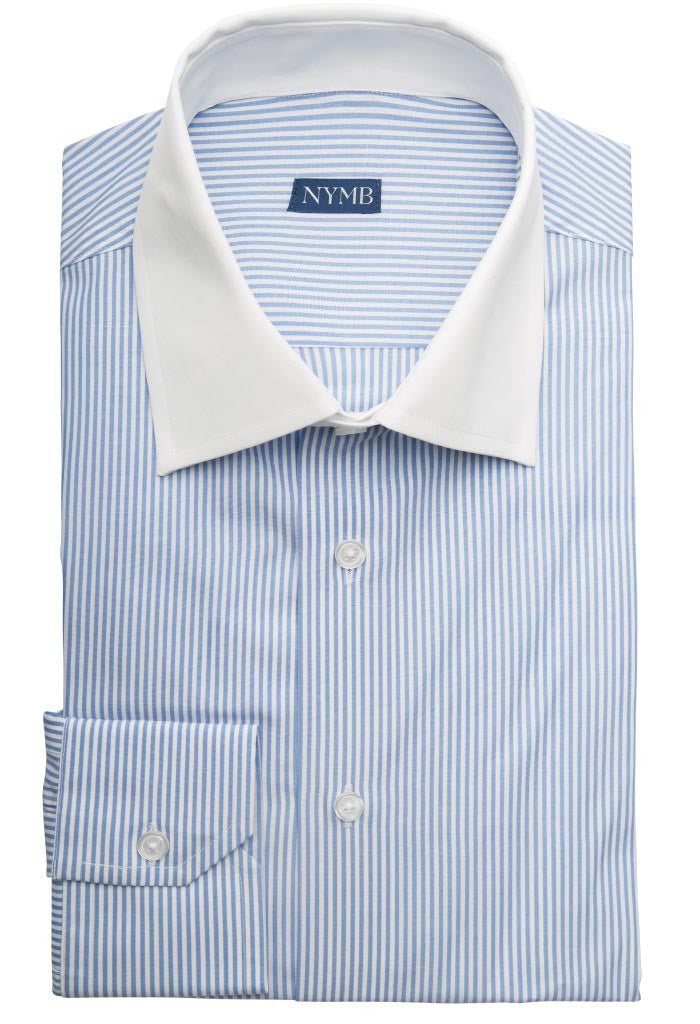 Dempsey Blue Stripe Shirt NYMB Folded