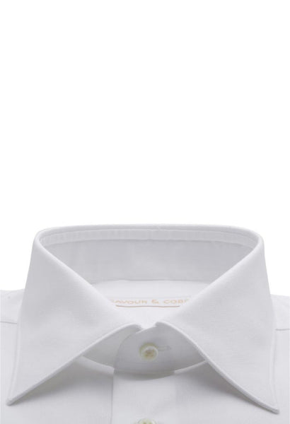 Isola White Oxford Shirt Cavour & Cobs Collar