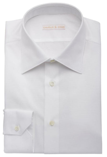 Isola White Oxford Shirt Cavour & Cobs Folded